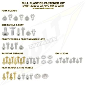 Bolt Motorcycle Hardware Plastic Body Fastener Kit - KTM-165XC17EXC