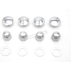 Chrome Slotted Rocker Arm Cover Plug Kit - 2019-8