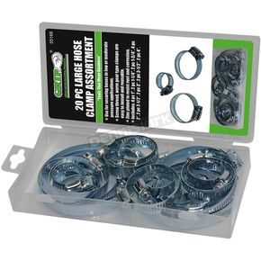 20 Piece Large Hose Clamp Assortment - 55168