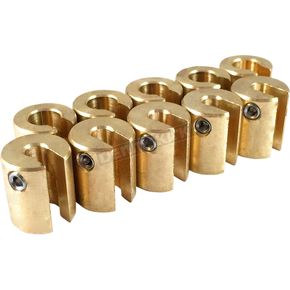 No-Mar .75 oz Brass Spoke Wheel Weights - WT-SPK10BR-75
