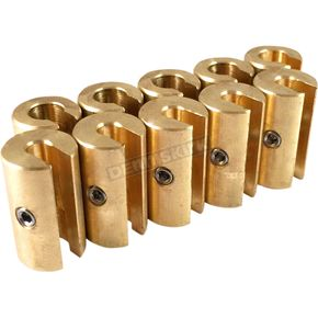 No-Mar 1.25 oz. Brass Spoke Wheel Weights - WT-SPK10BR-125