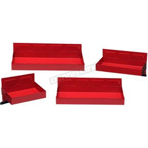 Red 4 Piece Magnetic Tool Box Tray - 67447