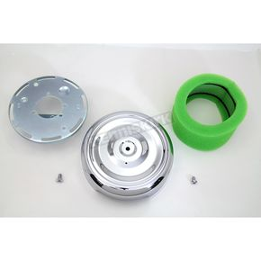 Chrome 8 in. Round Air Cleaner - 34-0415