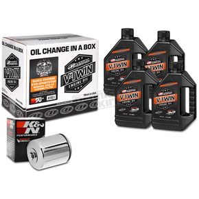 Maxima Quick Change Mineral Oil Kit in a Box w/Chrome Filter - 90-069014C