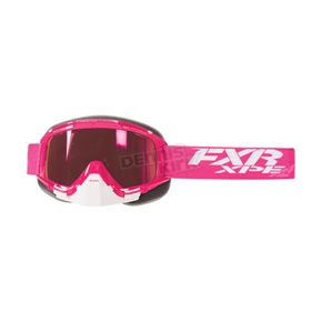 FXR Racing Fuchsia Mission XPE Goggle w/Smoke Lens with Atomic Pink Finish - 173100-9001-00