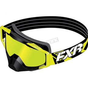 FXR Racing Hi-Vis Core Goggle w/Smoke Lens with Lazer Finish - 173102-6500-00