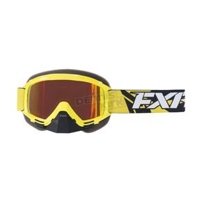 FXR Racing Hi-Vis/Black Mission Recon Speed Goggle w/Smoke Lens with Solar Finish - 173101-6510-00