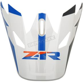 Z1R Orange/Blue Rise Visor Kit - 0132-1085