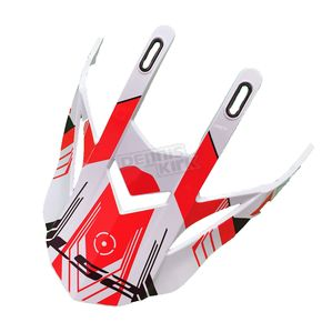 LS2 White/Red/Black Visor for Pioneer Trigger Helmets - 02-923