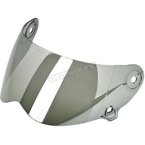 Biltwell Chrome Mirror Face Shield for Lane Splitter Helmet - FS-CHR-LS-SD
