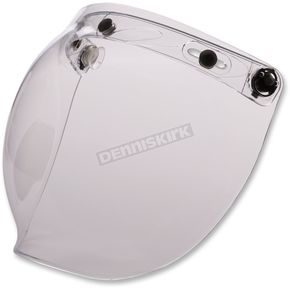 Z1R Clear Flip-Up Three-Snap Bubble Shield - 0130-0749