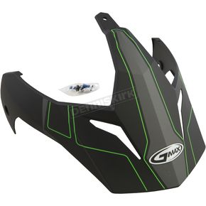 Matte Black/Hi-Vis Green Visor for GM11D Expedition Dual Sport Helmet - G011091