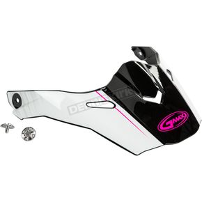 Black/White/Pink Visor Kit w/Screws for AT21 and AT21Y Raley Helmets - 72-3188
