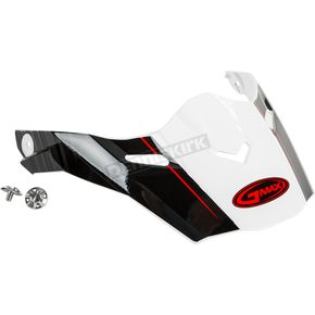 White/Gray/Red Visor Kit w/Screws for AT21 and AT21Y Raley Helmets - 72-3187