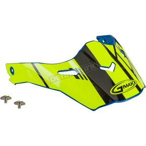 Blue/Hi-Vis/Black Visor Kit w/Screws for AT21S and AT21Y Epic Helmets - 72-3198