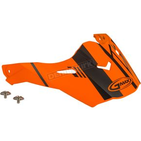 Matte Neon Orange/Black Visor Kit w/Screws for AT21S and AT21Y Epic Helmets - 72-3191