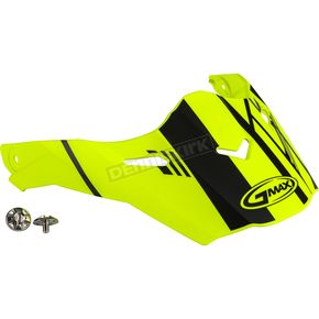 Matte Hi-Vis/Black Visor Kit w/Screws for AT21S and AT21Y Epic Helmets - 72-3190