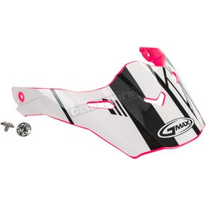 Pink/White/Black Visor Kit w/Screws for AT21S and AT21Y Epic Helmets - 72-3192