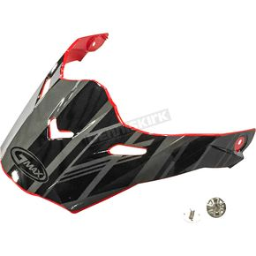 Red/Black/Silver Visor Kit w/Screws for AT21S and AT21Y Epic Helmets - 72-3197
