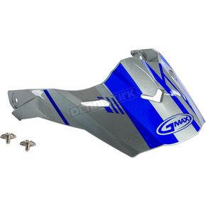 Silver/Blue Visor Kit w/Screws for AT21S and AT21Y Epic Helmets - 72-3196