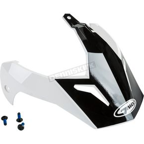 White/Black Visor Kit w/Screws for GM-11 and GM-11S Scud Helmets - 72-3380