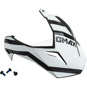 Matte Black/White Visor Kit w/Screws for GM-11 and GM-11S Trapper Helmets - 72-3393