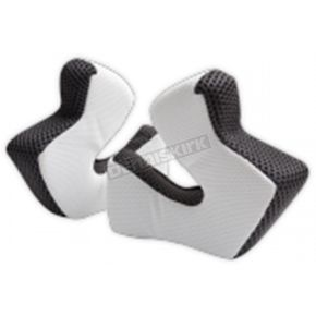 Troy Lee Designs White 3D Cheekpad Set for SE3 Helmets - 144003106