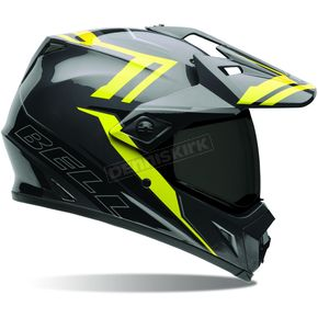 Bell Helmets Black/Hi-Vis Yellow MX-9 Adventure Barricade Helmet - 7061347
