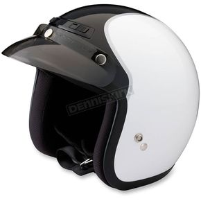 Z1R White/Black Jimmy Intake Open Face Helmet - 0104-1785