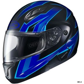HJC Blue/Black CL-Max 2 Ridge Helmet - 59-14529