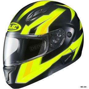 HJC Hi-Viz Neon Green/Black CL-Max 2 Ridge Helmet - 989-938