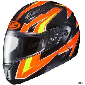 HJC Orange/Yellow/Black CL-Max 2 Ridge Helmet - 989-969