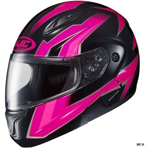 HJC Fuschia/Black/Gray CL-Max 2 Ridge Helmet - 59-14588