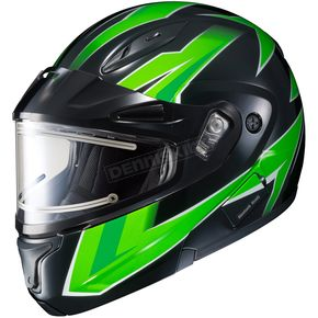HJC Green/Black CL-Max 2 Ridge Helmet w/Electric Shield - 59-24544