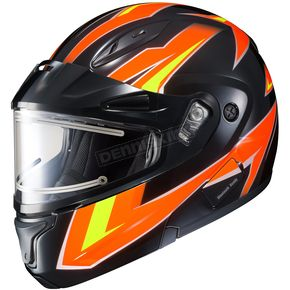 HJC Orange/Yellow/Black/White CL-Max 2 Ridge Helmet w/Electric Shield - 59-24569