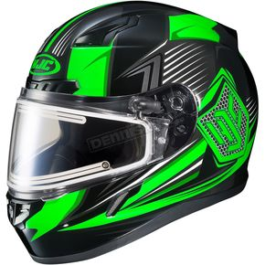 HJC Black/Green/Gray CL-17SN MC-4 Striker Helmet w/Frameless Electric Shield - 57-29362