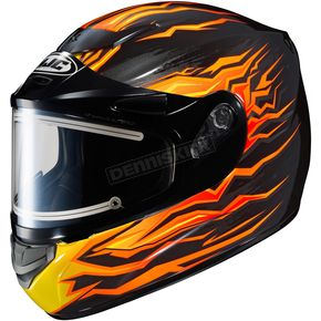 HJC Black/Orange/Yellow CS-R2 MC-7 Flame Block Helmet w/Electric Shield - 1212-2007-04