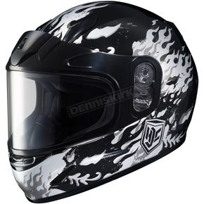 HJC Youth White/Gray/Black CL-Y Flame Helmet - 55-11954