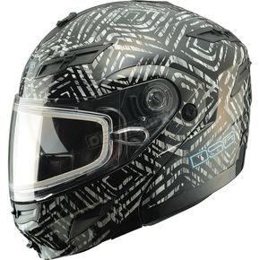 GMax Black Divas Snow Gear DSG GM54S Aztec Modular Snowmobile Helmet - 462-9100XL