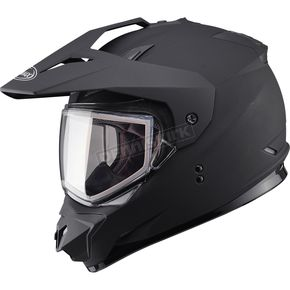 GMax Matte Black GM11S Snow Sport Snowmobile Helmet - 72-7121M