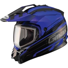GMax Black/Blue GM11S Trekka Snow Sport Snowmobile Helmet - 72-7132M
