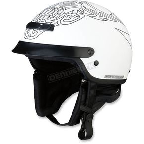 Z1R White/Black Nomad Tribal Helmet - 0103-1172
