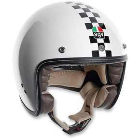 AGV White Checkered Flag RP60 Helmet - 110152C000807