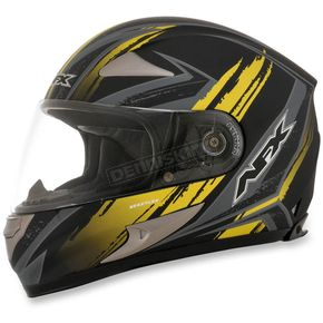 AFX Black/Yellow FX-90 Rush Matte Helmet - 0101-8467