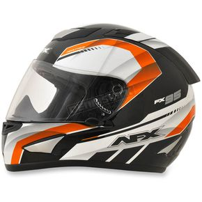 AFX Black/Safety Orange FX-95 Airstrike 2 Helmet - 0101-8602
