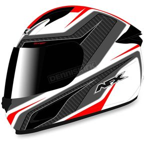 AFX White/Red FX-24 Stinger Helmet - 0101-8679