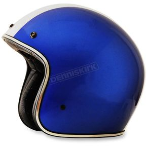 AFX Blue w/Whitestripe FX-76 Shelby Helmet - 0104-1838