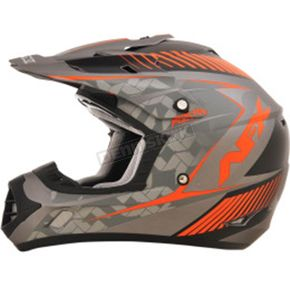 AFX Frost Gray/Safety Orange FX-17 Matte Factor Helmet - 0110-4481
