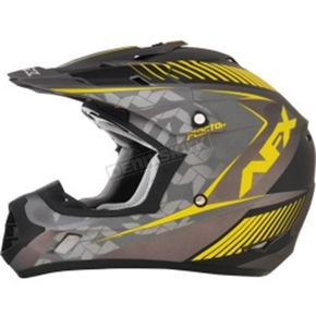 AFX Frost Gray/Hi Vis Yellow FX-17 Youth Factor Helmet - 0111-1017
