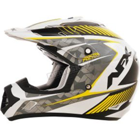 AFX Pearl White/Hi-Vis Yellow FX-17 Factor Helmet - 0110-4534